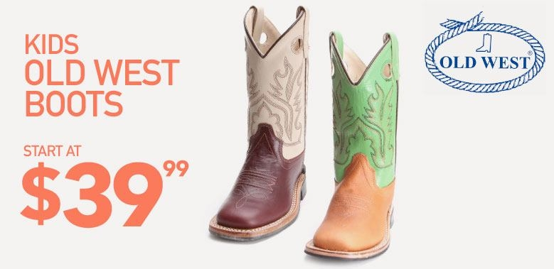 Kids Old West Cowboy Boots on Sale