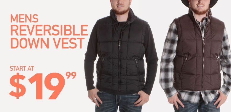 Mens Reversible Down Vest