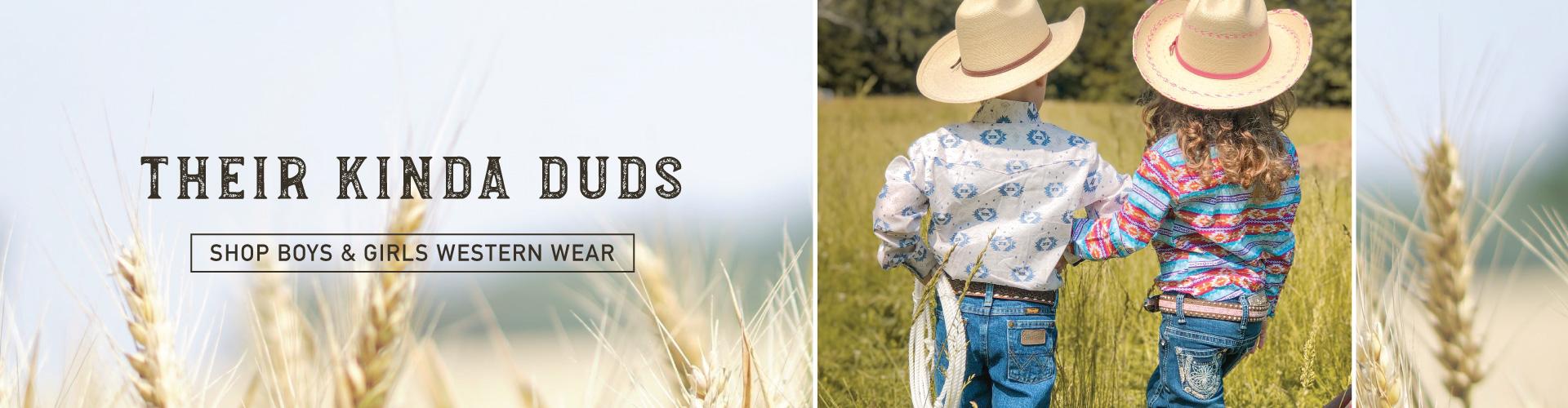 boys and girls western clothing