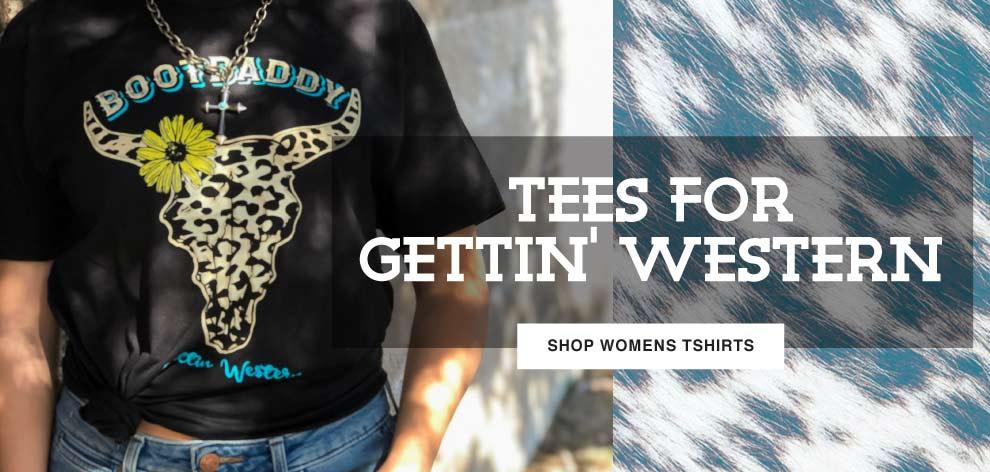 womens tshirts for getting western