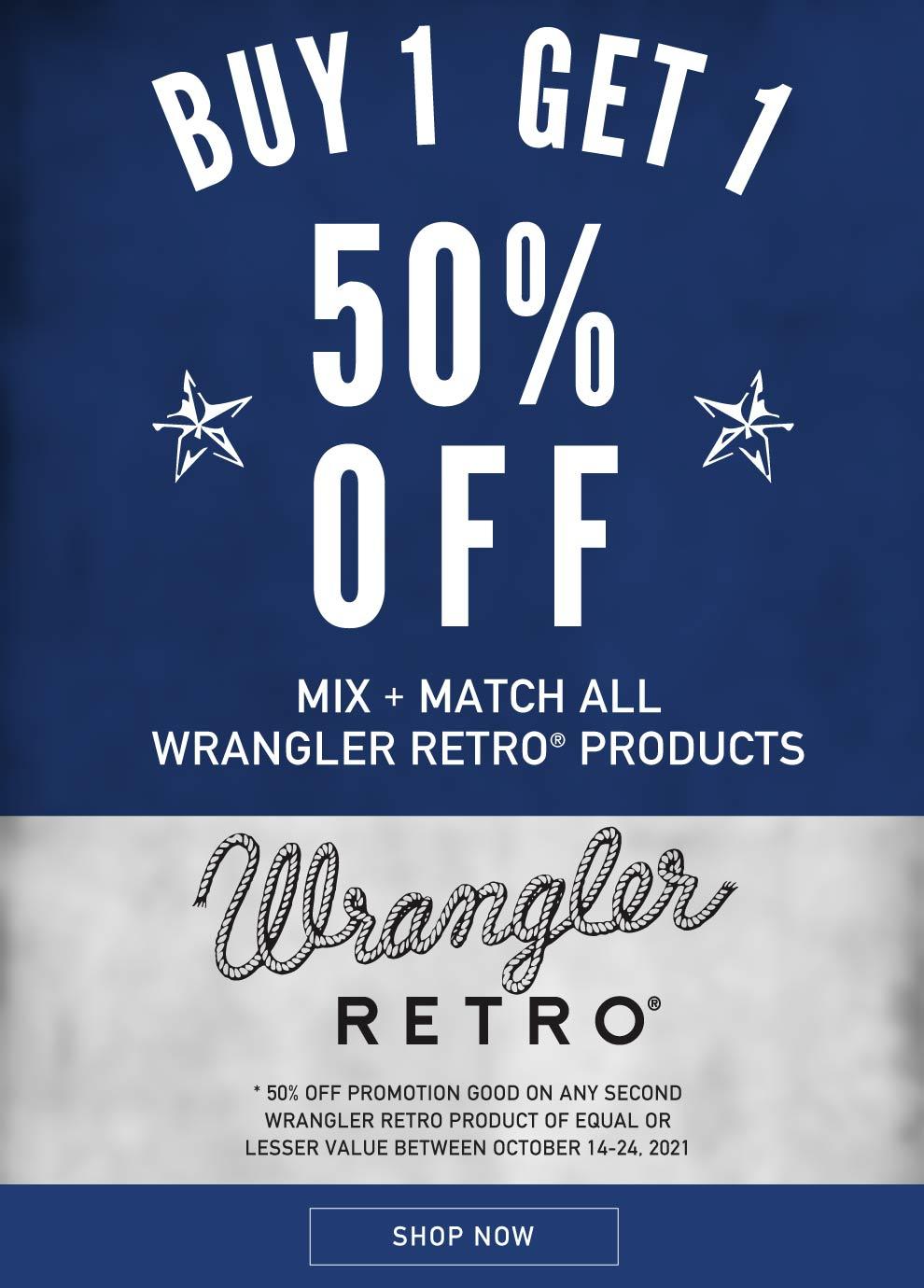 Wrangler Retro Jeans Buy One Get One Half Off