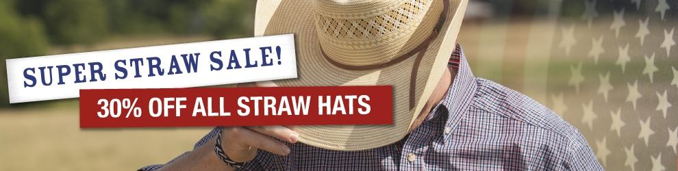 Straw Cowboy Hat 30% Off