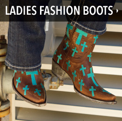ladies fashion cowgirl boots