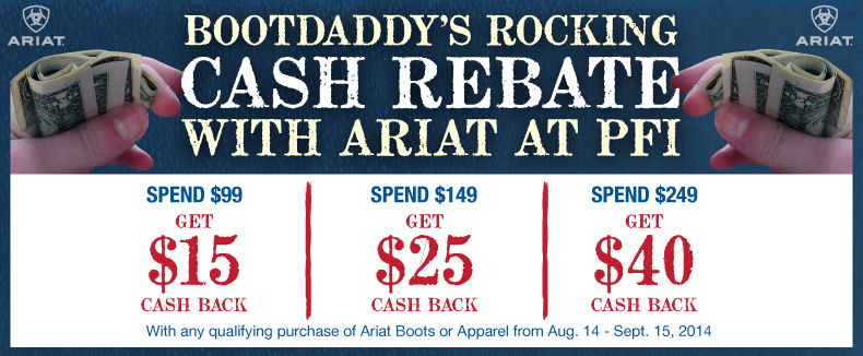 Ariat Cash Rebate Program