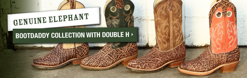 bootdaddy double h elephant boots