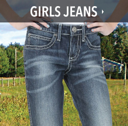 little girls western jeans