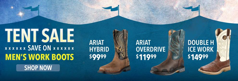 tent sale mens cowboy boots