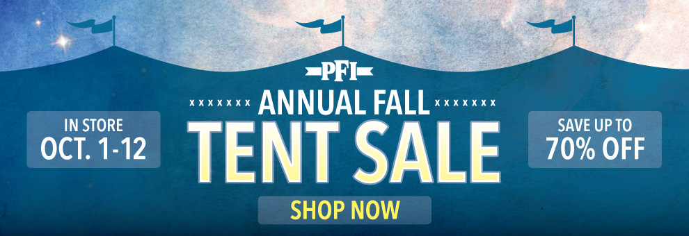pfi fall tent sale