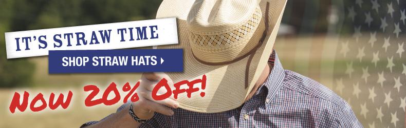 straw cowboy hats sale