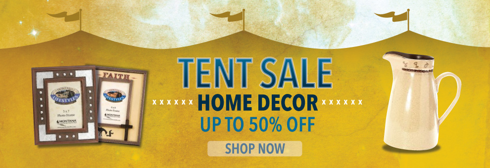 tent sale home decor