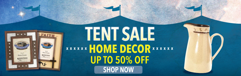 tent sale western home decor