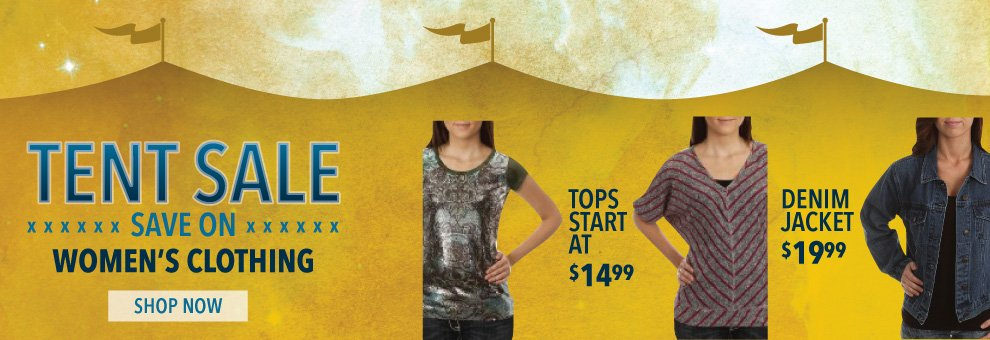 tent sale womens western clothing