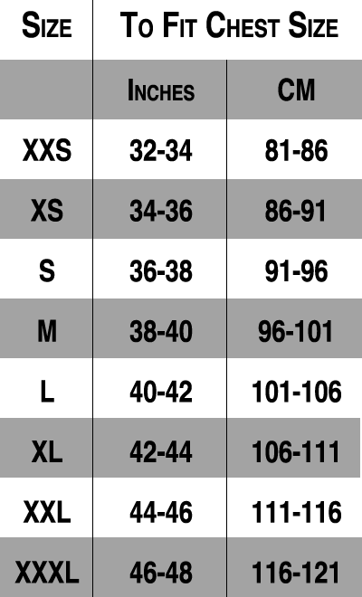 Mens Jacket Sizes