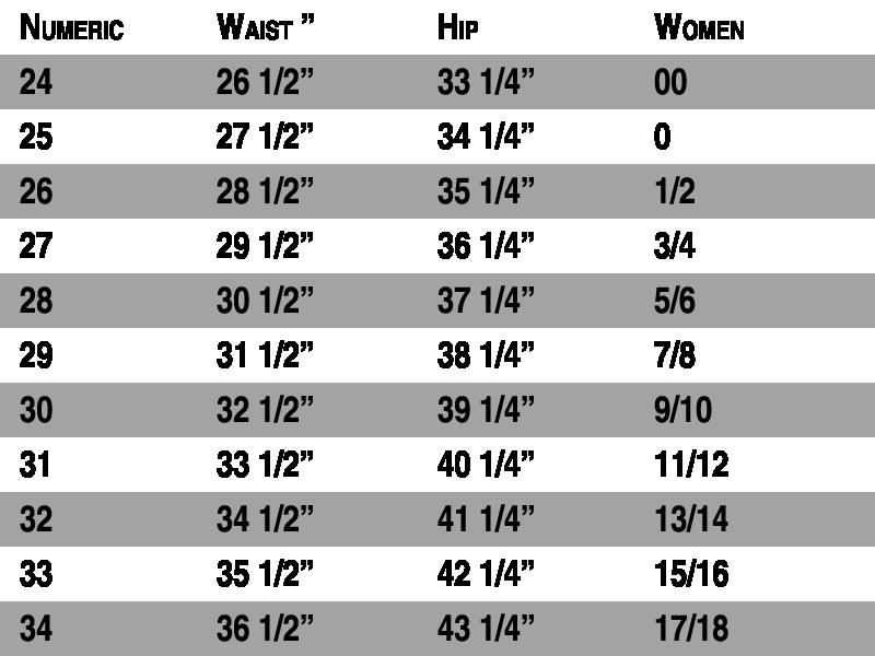 Womens Jean Size